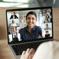 Thumb online teaching practice via zoom